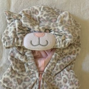 12 Month Little Grey White Pink Kitten Costume 1YR